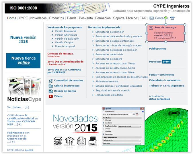 DESCARGA DESDE CYPE.ES. CURSO DE INICIACIÓN CYPECAD.
